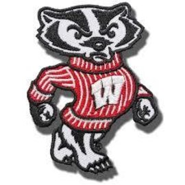 "Wisconsin Badgers 3"" Embroidered Bucky Patch"