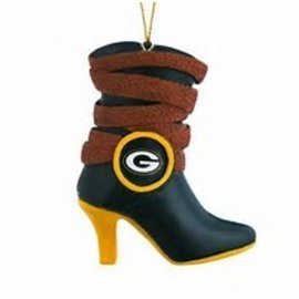 Green Bay Packers Team Boot Ornament