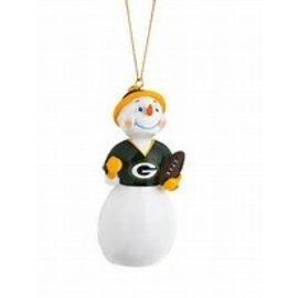 Green Bay Packers Jock Frost Snowman Ornament