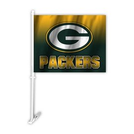 Green Bay Packers Ombre Car Flag