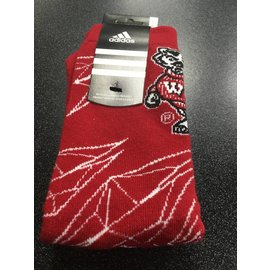 Wisconsin Badgers Tall Red Sock with Bucky Size Large