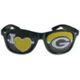 Green Bay Packers Sunglasses with I Heart G on Lense