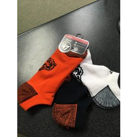 Chicago Bears Blade No Show 3 Pack Socks - Size Large