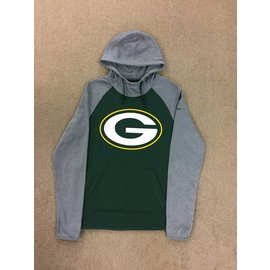 Green Bay Packers Women's Green With Gray Sleeves Hoodie