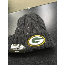 Green Bay Packers Women's Cable Frosted Cuffed Knit Hat
