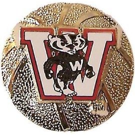 Wisconsin Badgers Gold Basketball Pin