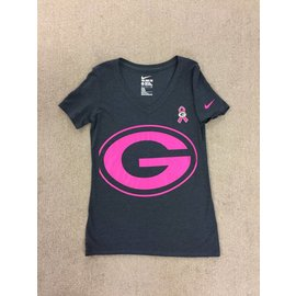 Green Bay Packers Women's Black Breast Cancer Awareness Short Sleeve Tee