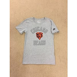Chicago Bears Men's Gray With Bears Head Short Sleeve Tee