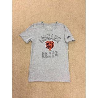 Chicago Bears Men's Gray With Bears Head Short Sleeve Tee