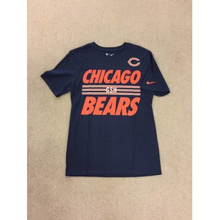 Chicago Bears Men's Navy With Stripes On The Chest Short Sleeve Tee