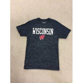 Wisconsin Badgers Men's Black Short Sleeve Tee