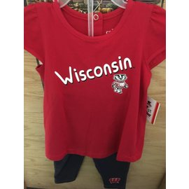 Wisconsin Badgers Youth Tunic & Leggings Set