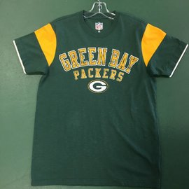 Green Bay Packers Men's Short Sleeve Tee with Yellow Arm Inserts