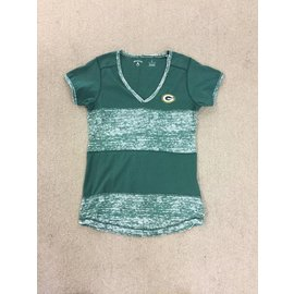 Green Bay Packers Women's Activate Dark Green With Heathered Green Short Sleeve Tee
