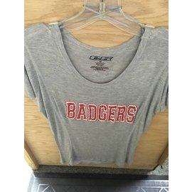 Wisconsin Badgers Women's Gray Short Sleeve Tee