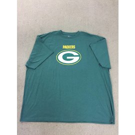 Green Bay Packers Men's Green With Yellow Packers and Big G Short Sleeve Tee