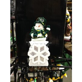 Green Bay Packers Snowman LED Ornament