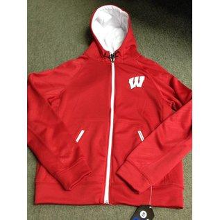 Wisconsin Badgers Men's Poly Full Zip Hoodie