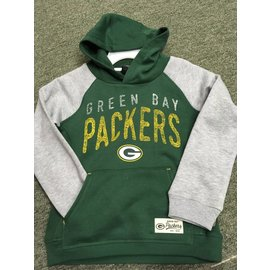 Green Bay Packers Youth Green Hoodie with Gray Sleeves
