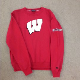 Wisconsin Badgers Men's Red With A White W Crewneck Sweatshirt