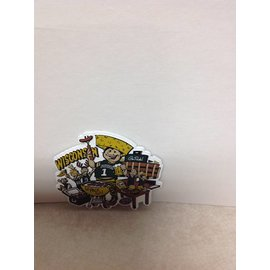 Green Bay Packers Cheesehead Tailgaiting Magnet