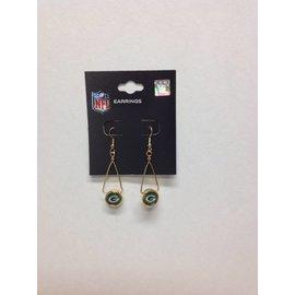 Green Bay Packers Gold French Loop Earrings