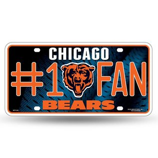 Chicago Bears #1 fan metal license plate
