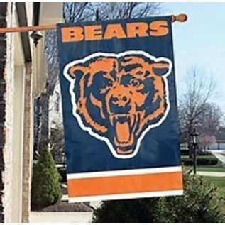 Chicago Bears 2 Sided Banner Flag