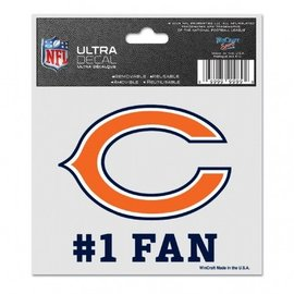 Chicago Bears 3x4 multi-use decal #1 fan