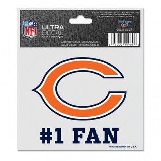 Chicago Bears 3x4 multi-use decal #1 fan