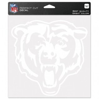 Chicago Bears 8x8 White Decal