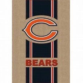 Chicago Bears Burlap Banner Flag