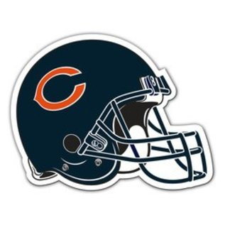 Chicago Bears Large Helmet Car Magnet