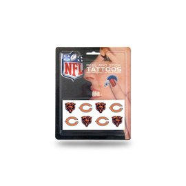 Chicago Bears Peel & stick tattoo set - 8 pk