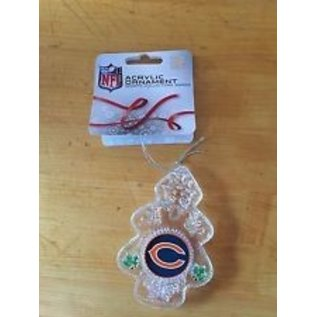 Chicago Bears Traditional Clear Tree Ornament