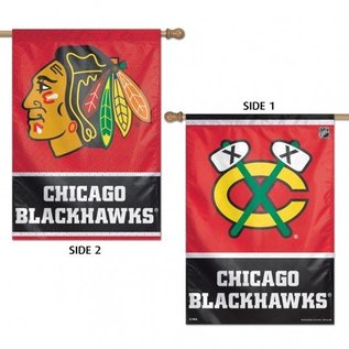 Chicago Blackhawks 2 Sided Vertical Flag
