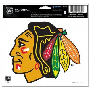 Chicago Blackhawks 4x4 Perfect Cut Decal