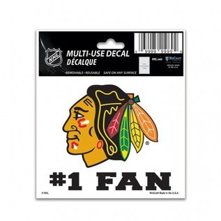 Chicago Blackhawks multi-use 3x4 decal #1 fan