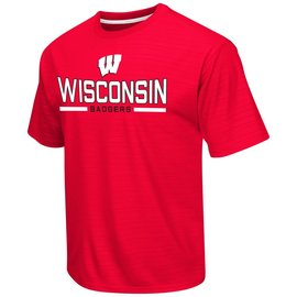 Wisconsin Badgers In The Vault Poly Short Sleeve Tee