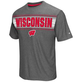 Wisconsin Badgers Men's Vandelay Poly Short Sleeve Tee