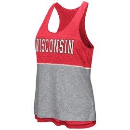Wisconsin Badgers Women's Red Ross Reversible Tank Top