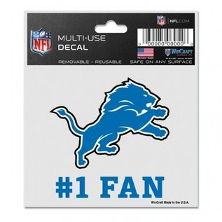 Detroit Lions 3x4 multi-use decal #1 fan