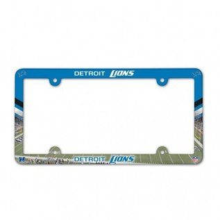 Detroit Lions Colorful Plastic License Plate Frame