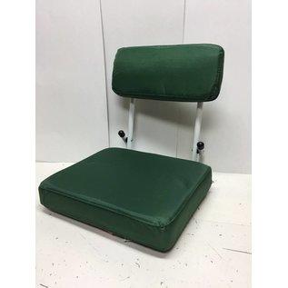 Green And White Hard Backed Stadium Seat