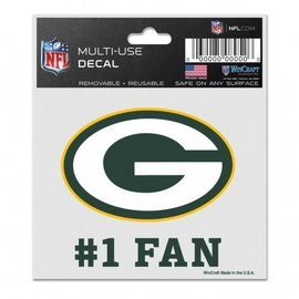 Green Bay Packers #1 Fan  Decal
