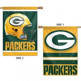 Green Bay Packers 2 sided banner flag