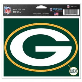 Green Bay Packers 4.5x5.75 Multi-use Decal - G