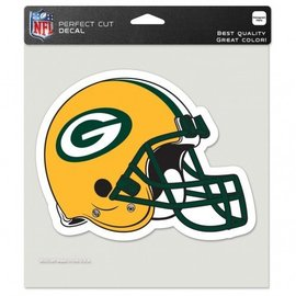 Green Bay Packers 8x8 Colored Perfect Cut Decal - Helmet