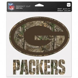 Green Bay Packers 8x8 Perfect Cut Decal - Camo