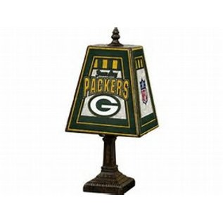 Green bay packers art glass table lamp packerland plus green bay packers art glass table lamp aloadofball Images